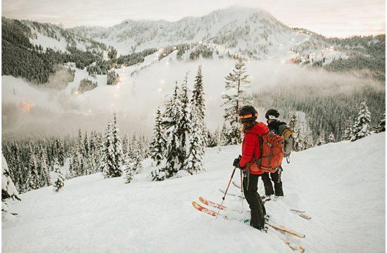 Skiing Session Washington