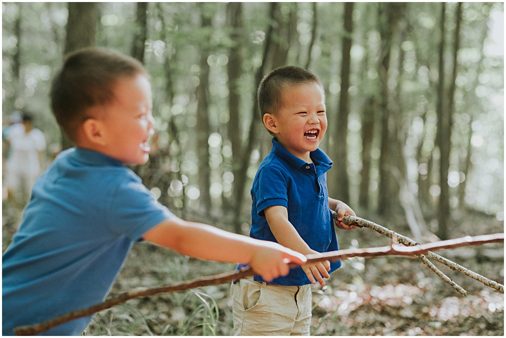 Playing with Sticks Family Photographer