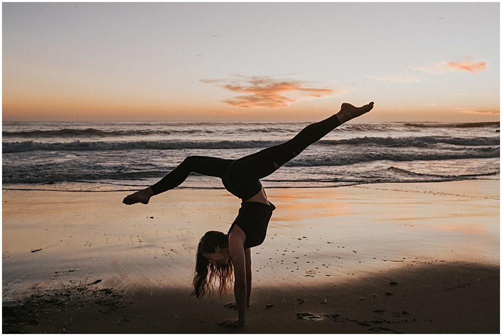 Yoga by the Beach Traverse City Michigan Photographer