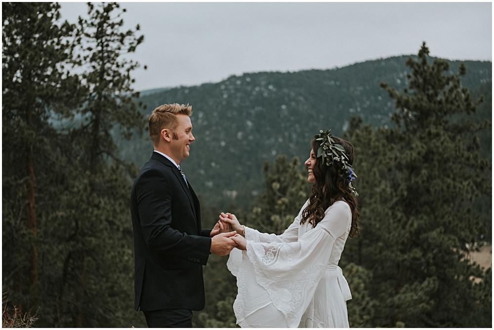 Wedding near Estes Park Colorado