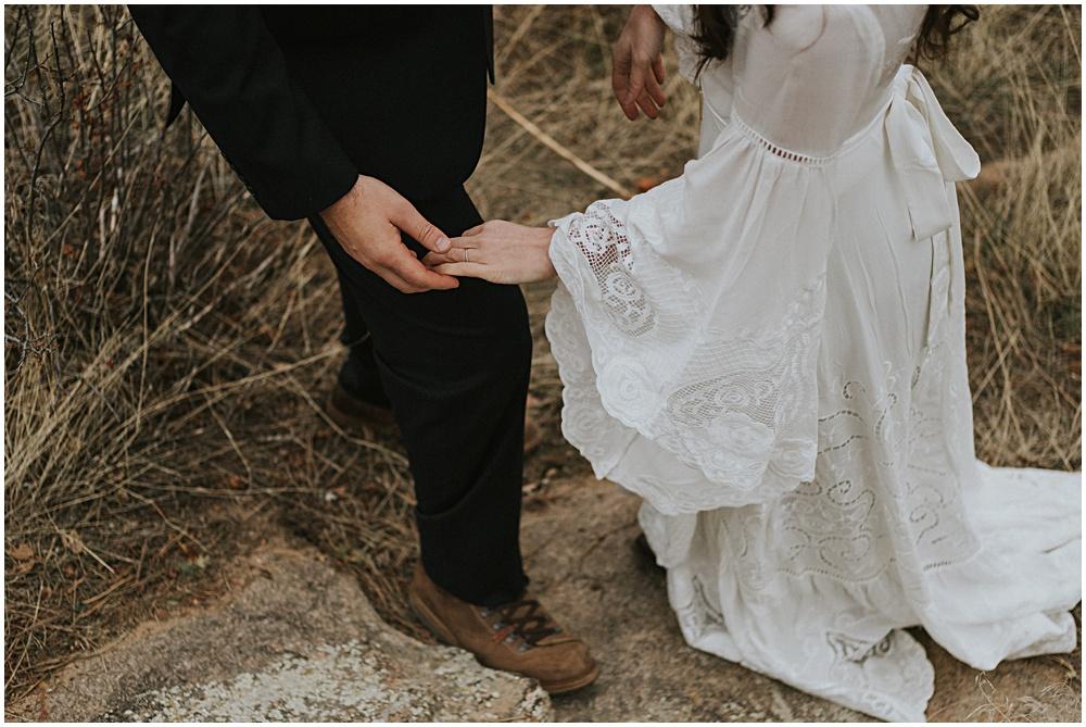First Look Rocky Mountain National Park Wedding near Estes Park