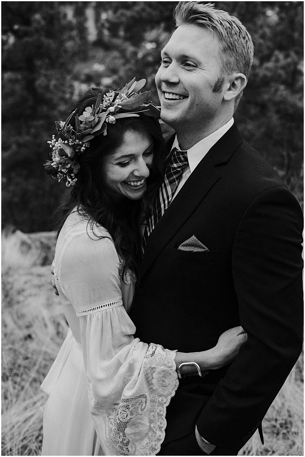Bride and Groom Estes Park Colorado