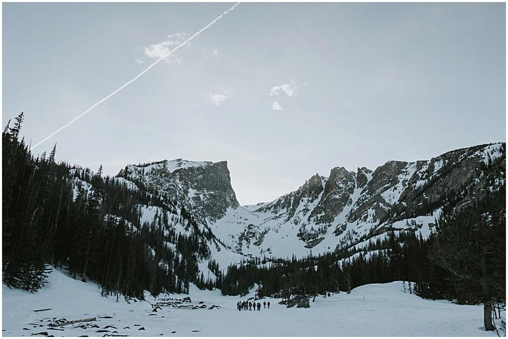 Ceremony in Colorado Wedding Mountaintop Dream Lake