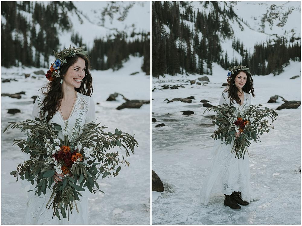 Mountaintop Wedding Dream Lake Estes Park Colorado