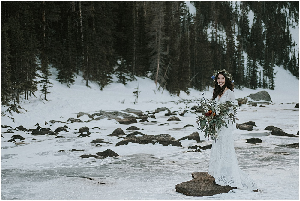 Bride Mountaintop Dream Lake Estes Park Colorado