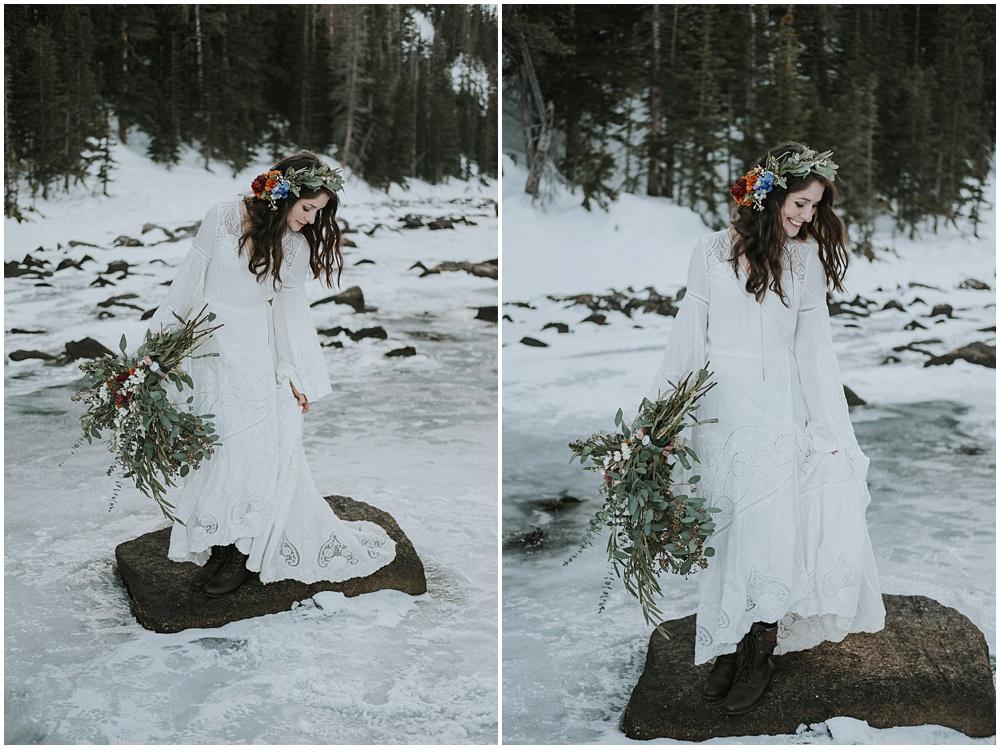 Epic Wedding Mountaintop Estes Park Rocky Mountain National Park