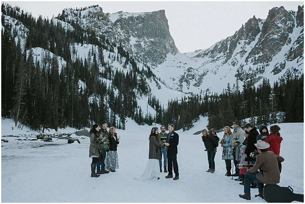 Wedding Ceremony Dream Lake Rocky Mountain National Park