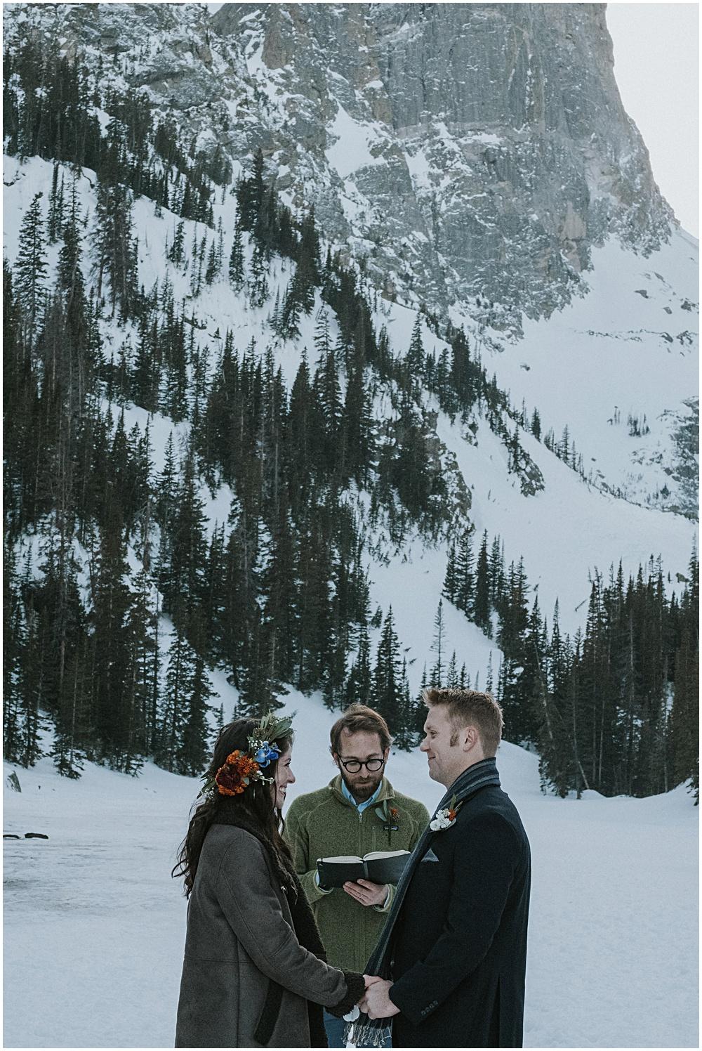 Estes Park Colorado Dream Lake Wedding