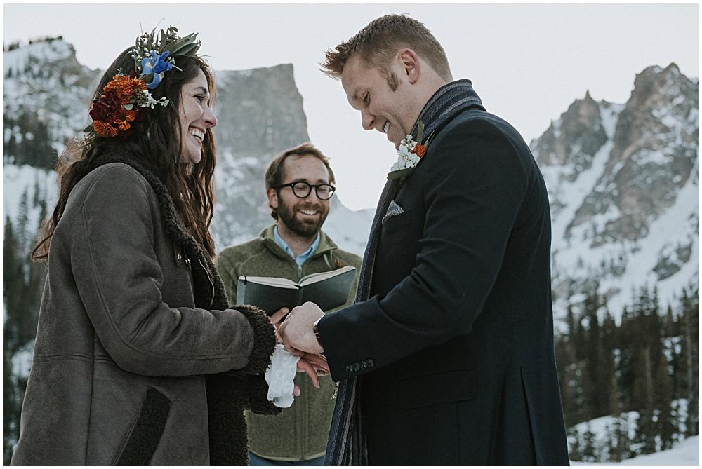 Dream Lake Wedding near Estes Park Colorado