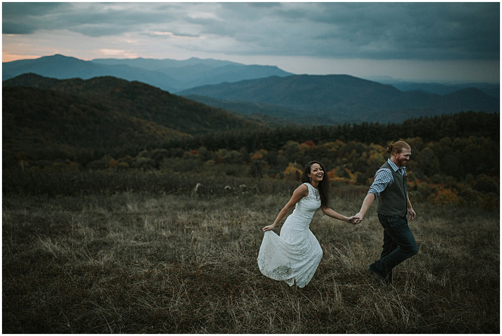 Max Patch Appalachian Trail Bride and Groom