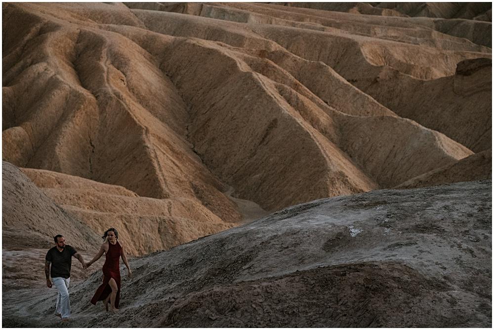 Engagement Session Death Valley Zabriskie Point