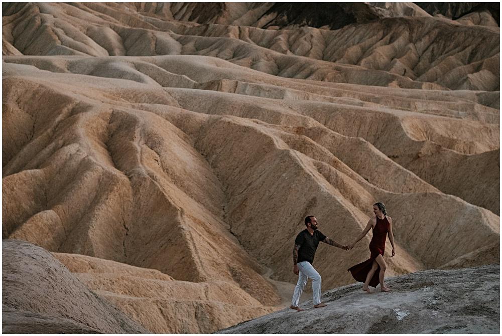 Couples Adventure Zabriskie Point Death Valley California