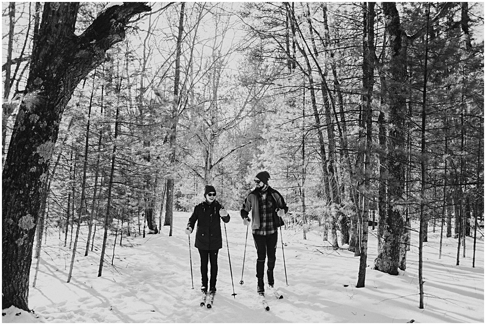 Cross Country Ski Couples Session