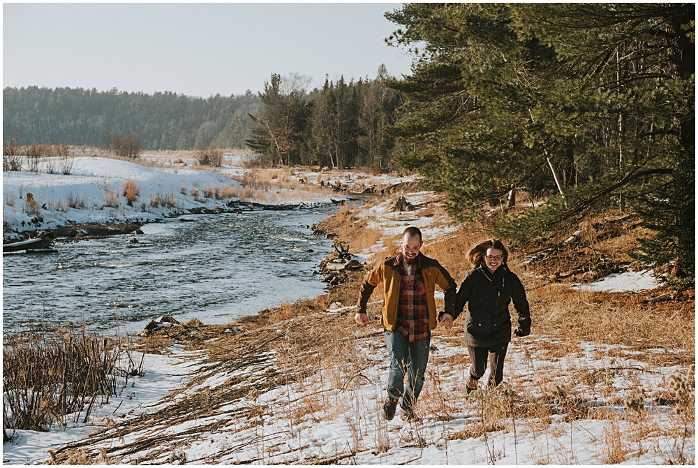 Michigan Forest Couples Session Traverse City