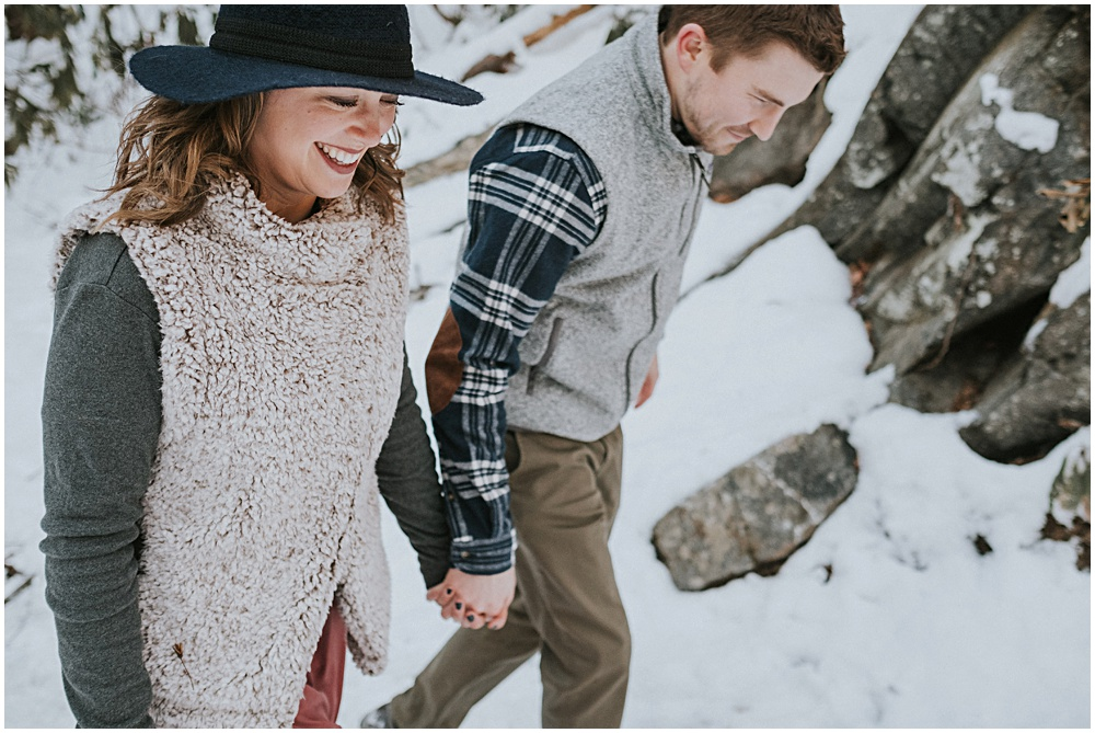 Snowy Engagement Session NC