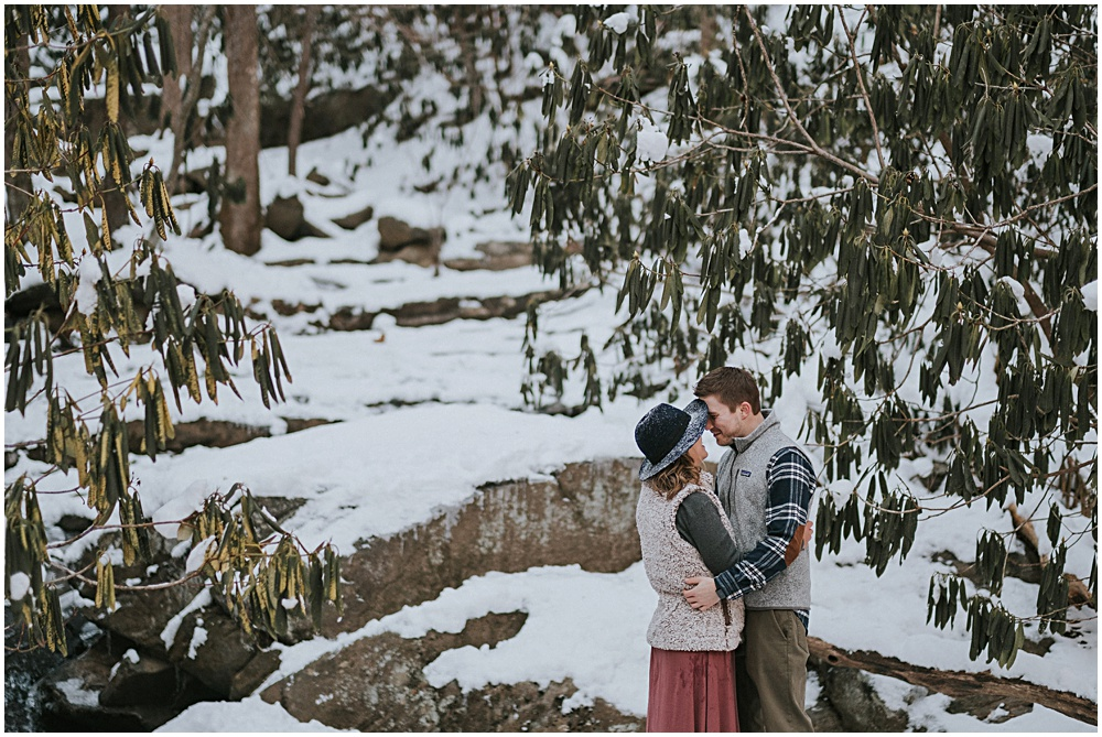 Frozen Winter Engagement