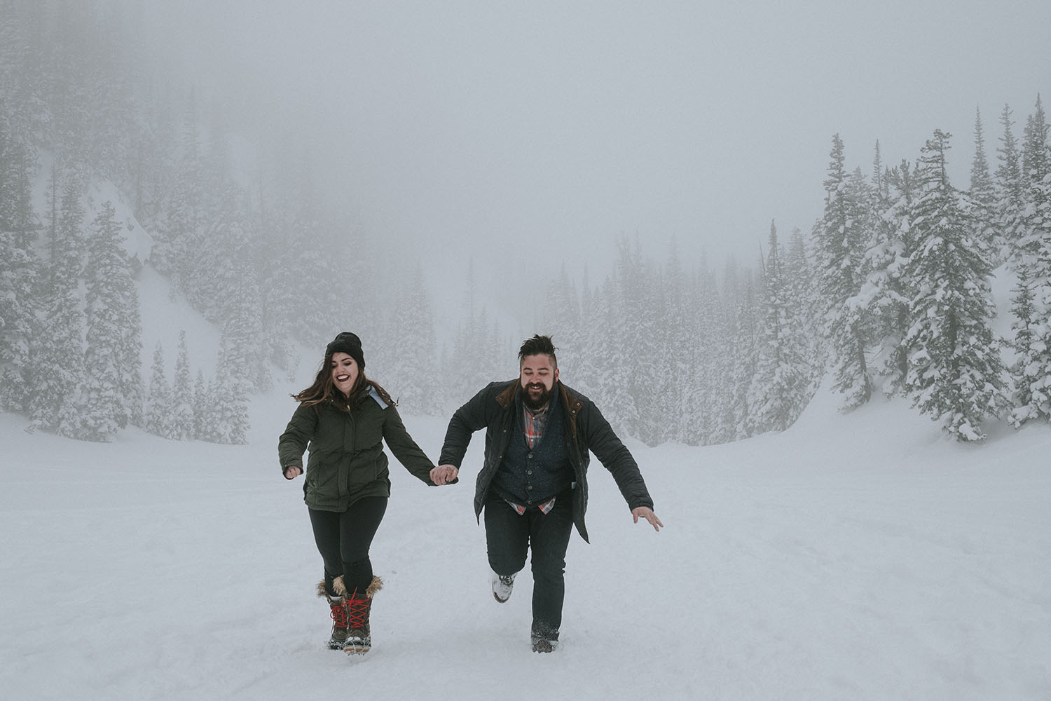 Snowy Engagement Session Michigan