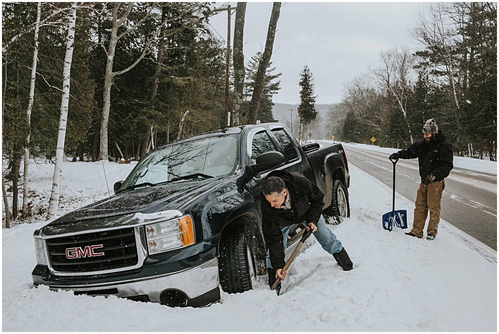 Truck Stuck Snow Tires Traverse City