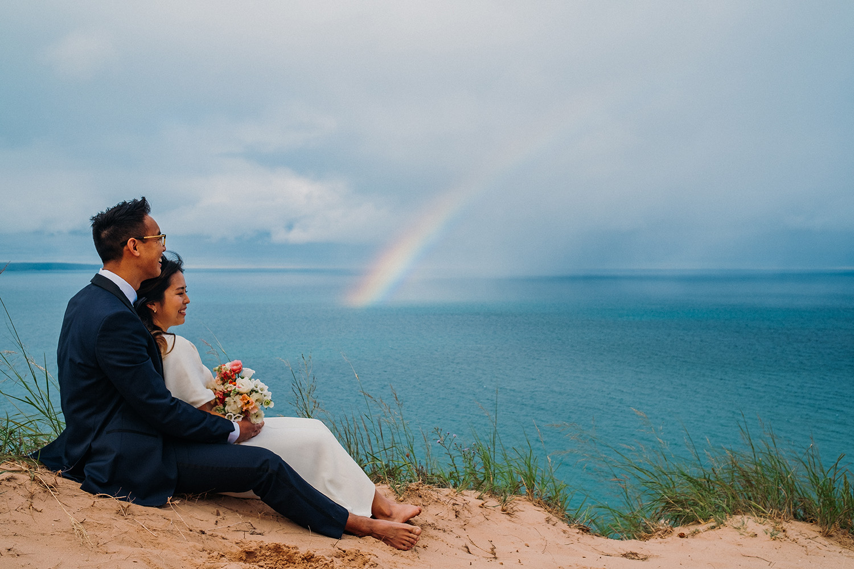 Bride and Groom Elopement Dunes