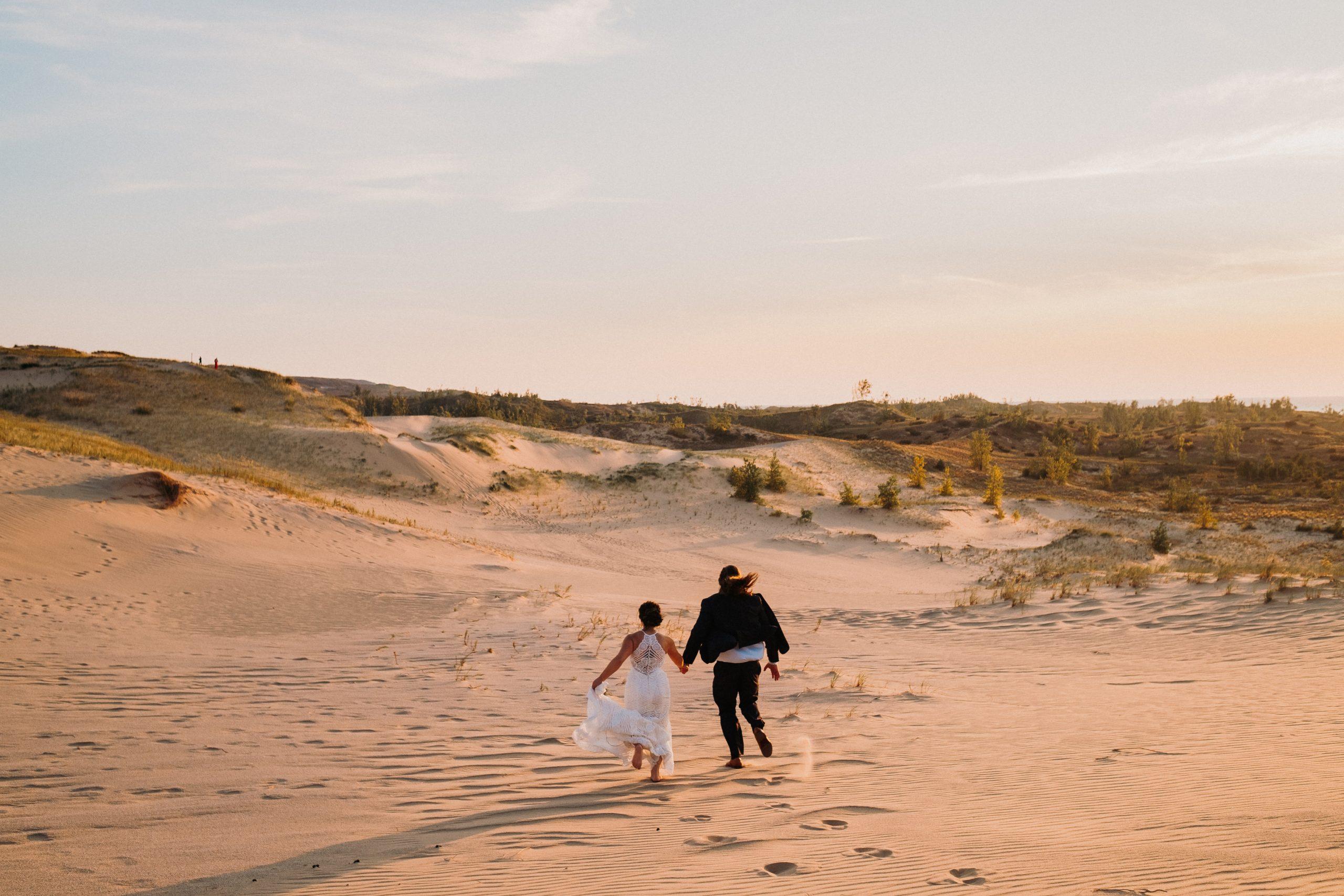 Couple Running Dunes
