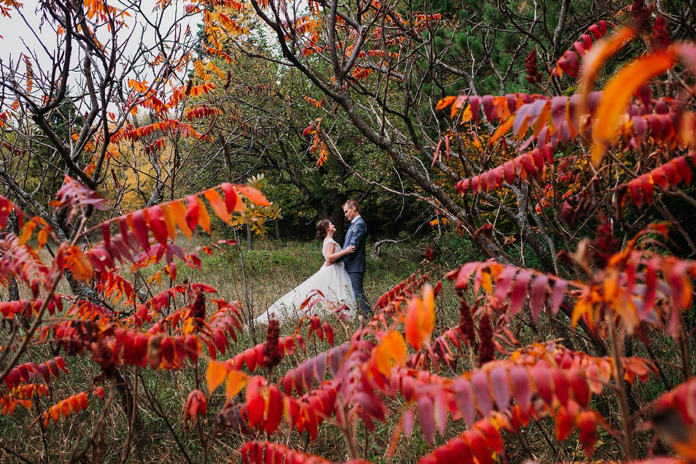 Empire Elopement Couple Fall Colors