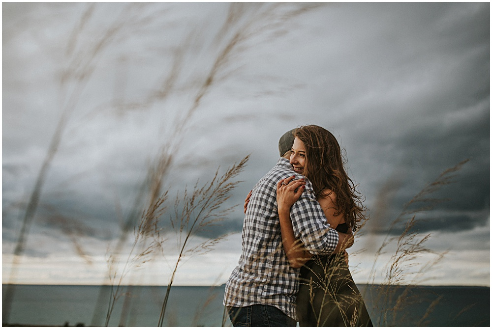Traverse City Bay Area Engagement Photographer