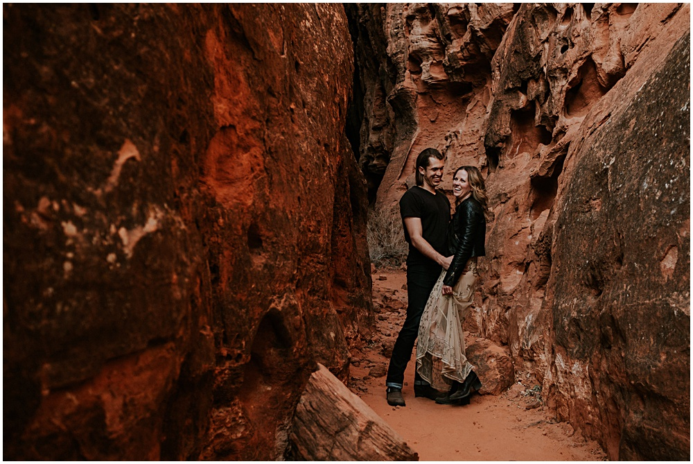 Slot Canyon Adventure Engagement Photographer Utah