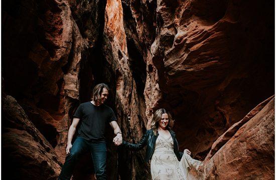 Engagement Session Utah Snow Canyon