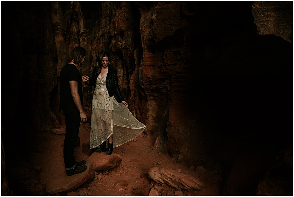 Elopement Engagement Session in Utah St. George
