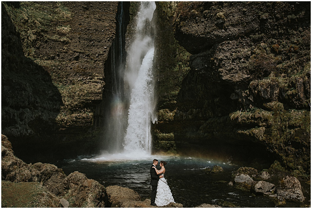 Iceland Waterfall Couples Portraits