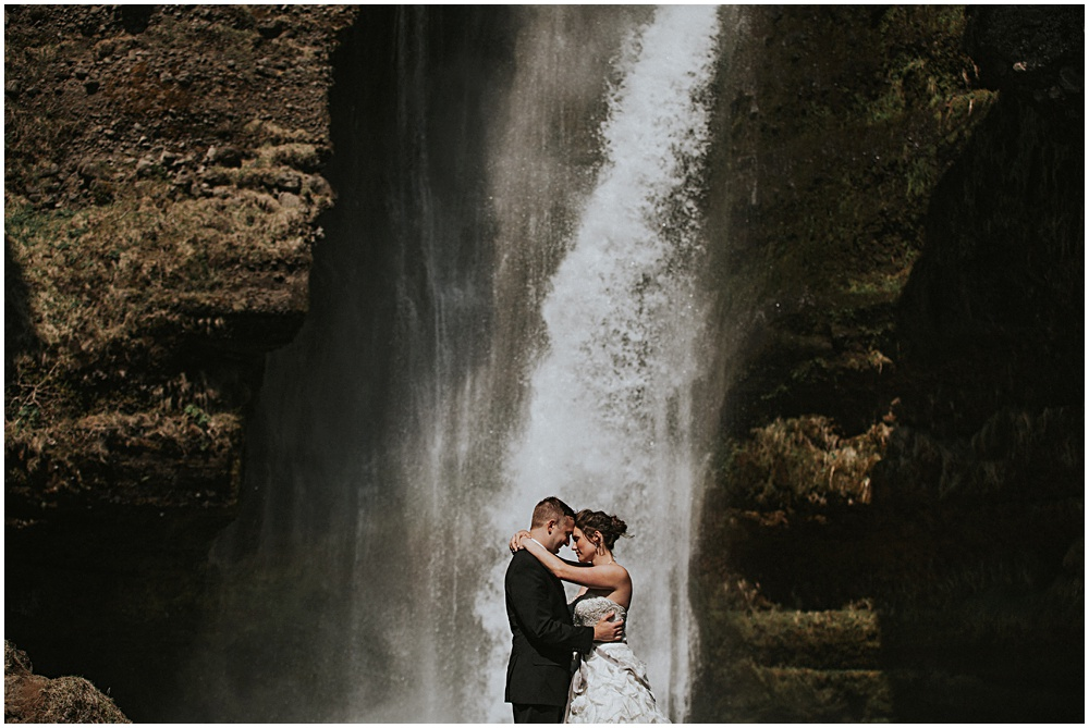 Couples Portraits South Iceland Waterfall
