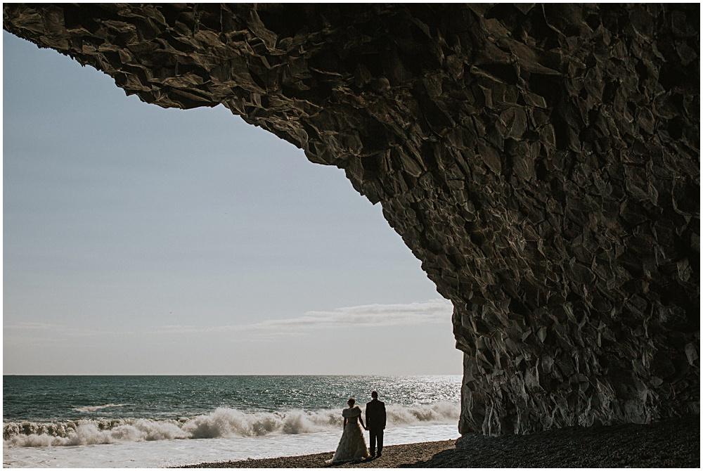 Iceland Reynisfjara Vik Beach Wedding