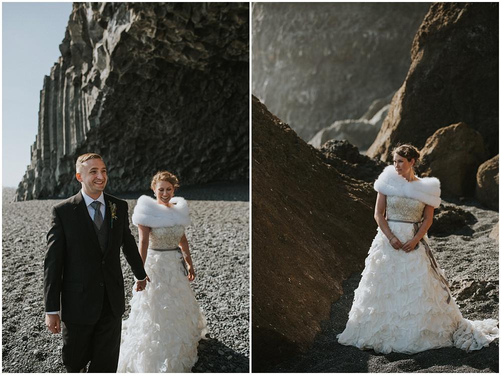 Reynisfjara Beach Wedding Iceland