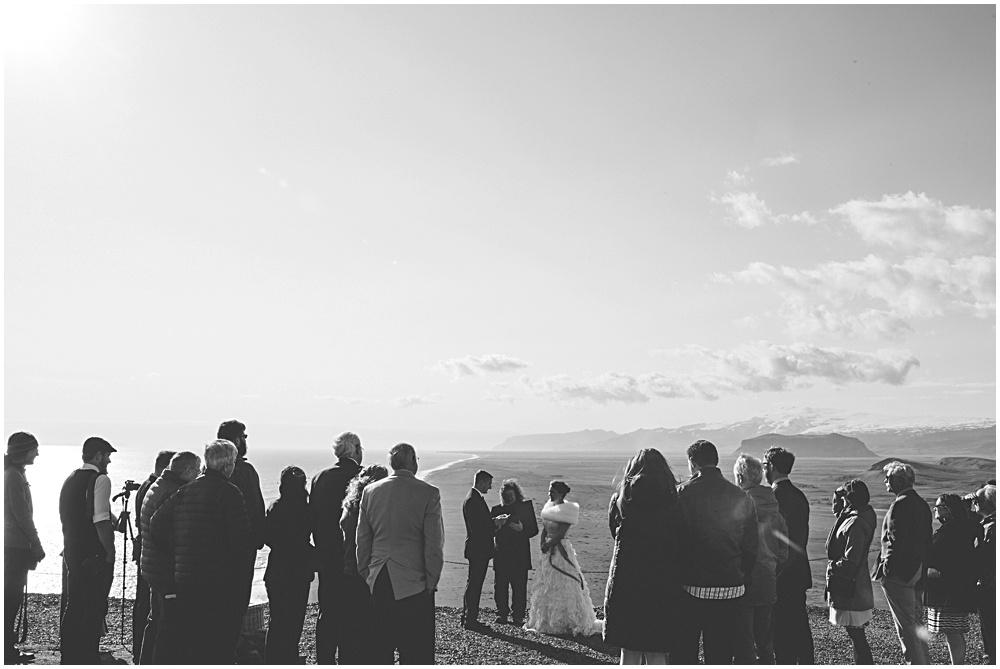 Iceland Wedding Ceremony Dyrholaey Cliffs
