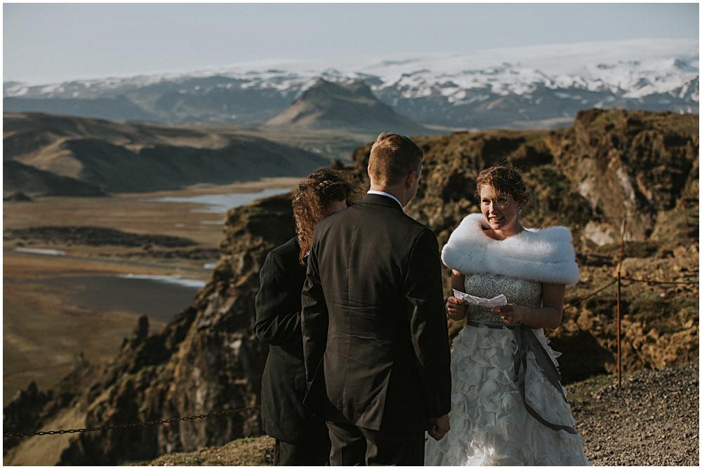 Dyrholaey Cliffs Wedding Ceremony