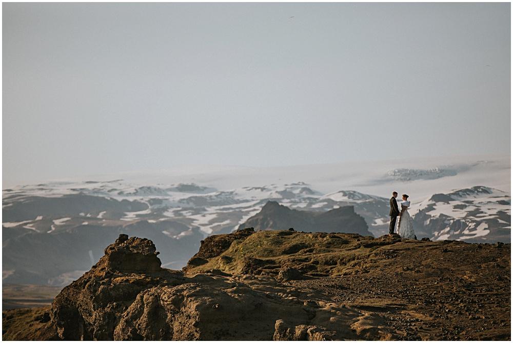Dyrholaey Cliffs Couples Portraits Iceland Wedding