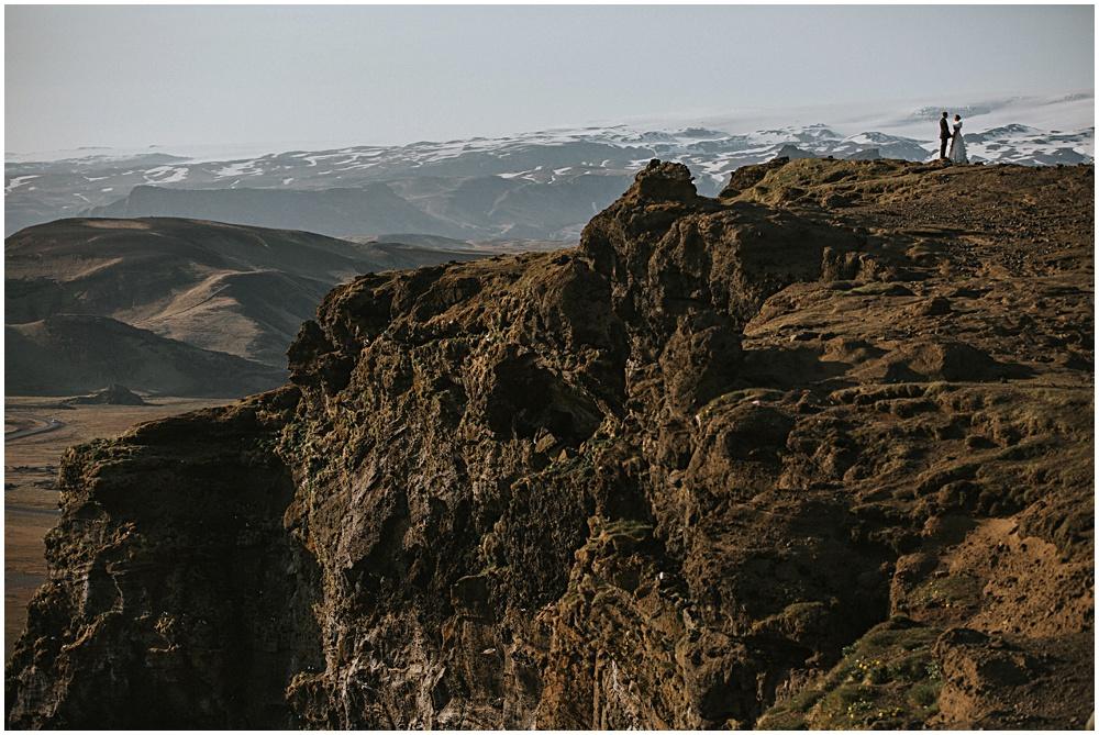 Dyrholaey Cliffs Dramatic Couples Portraits Iceland