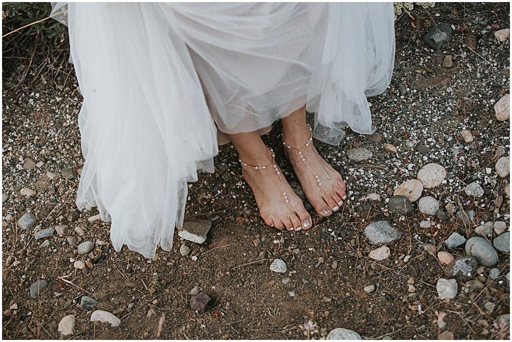 Wedding Ceremony North Cascades Natural Shoeless