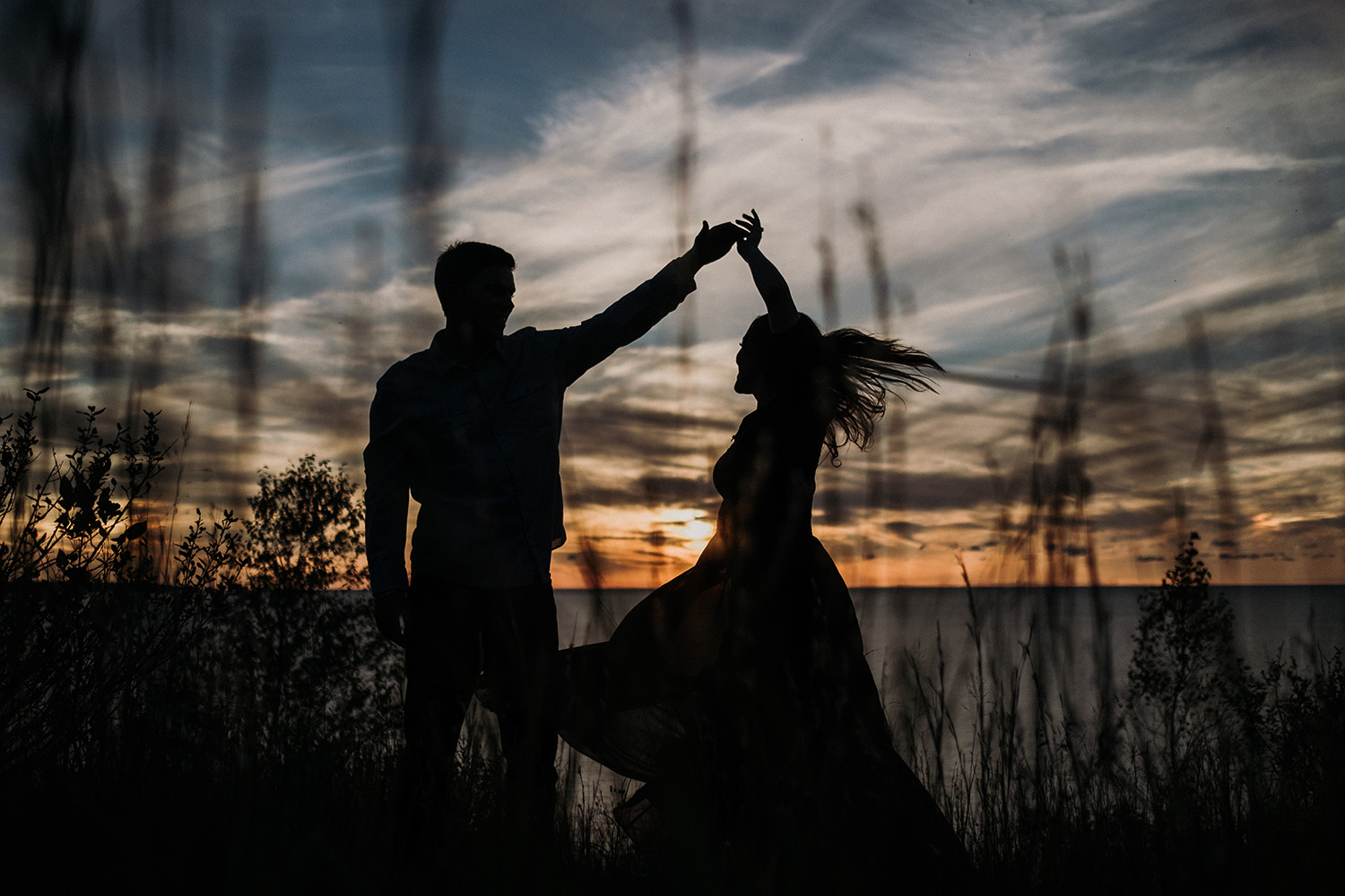 Lake Michigan Dunes Engagement