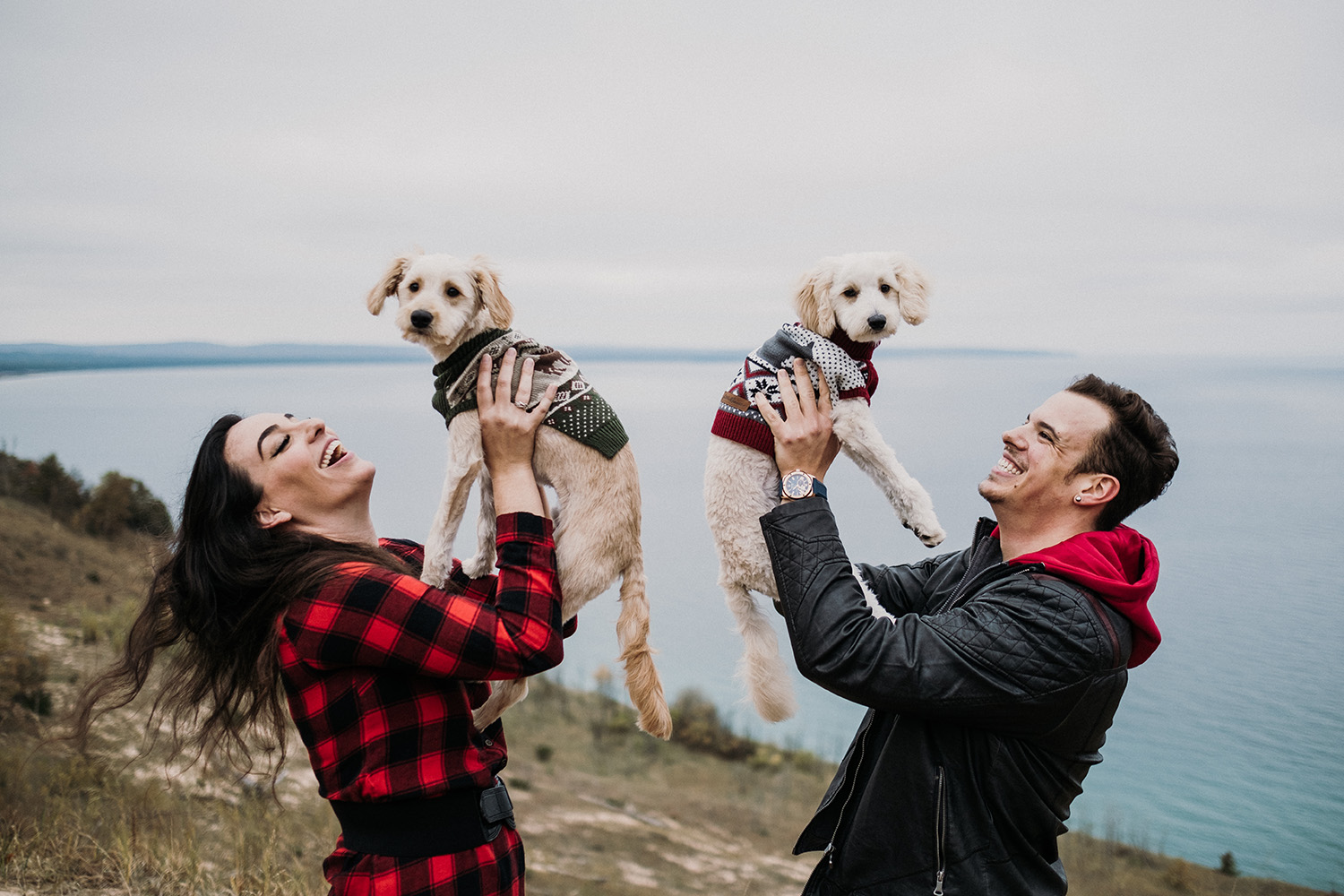 Traverse City Engagement Photographer Dogs