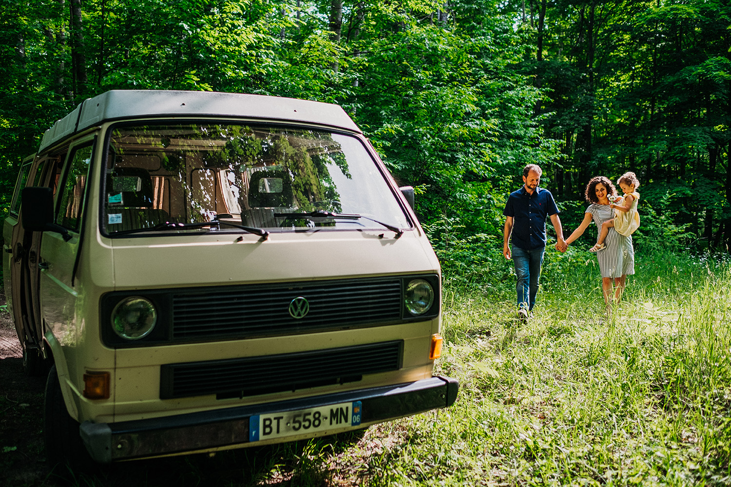 Family Road Trip VW Van