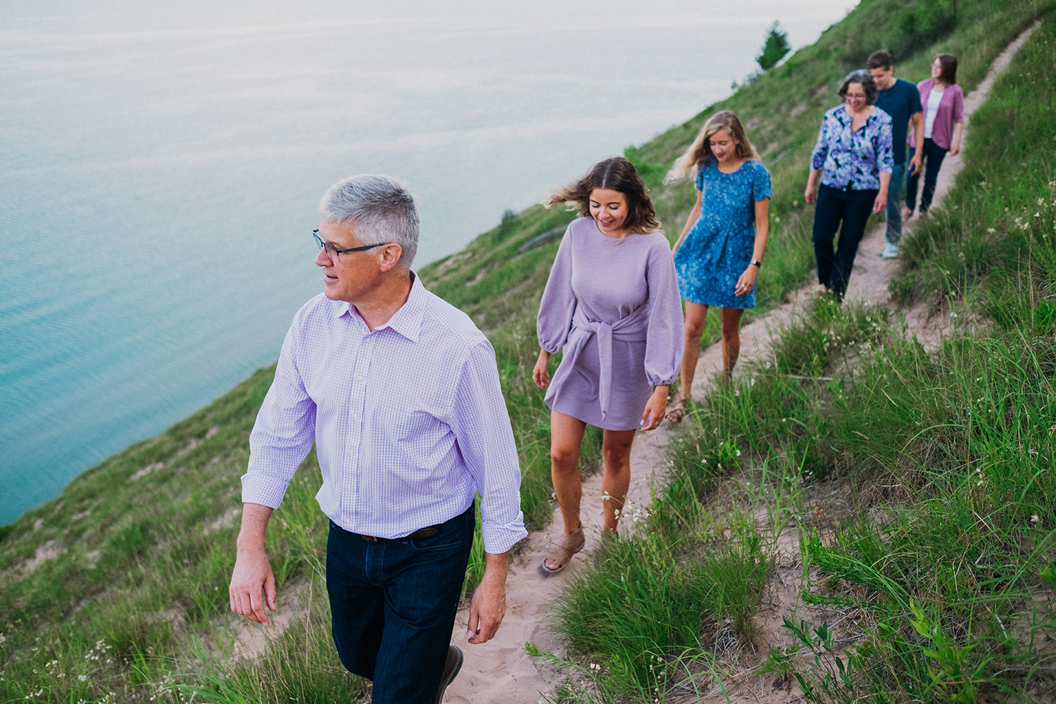 Family Hiking in Empire Dunes
