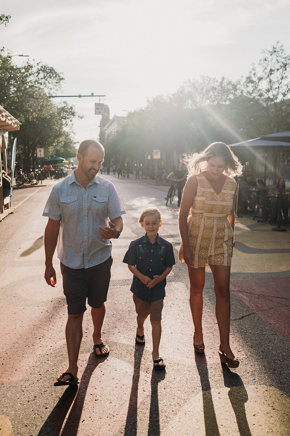 Traverse City Downtown Family Session