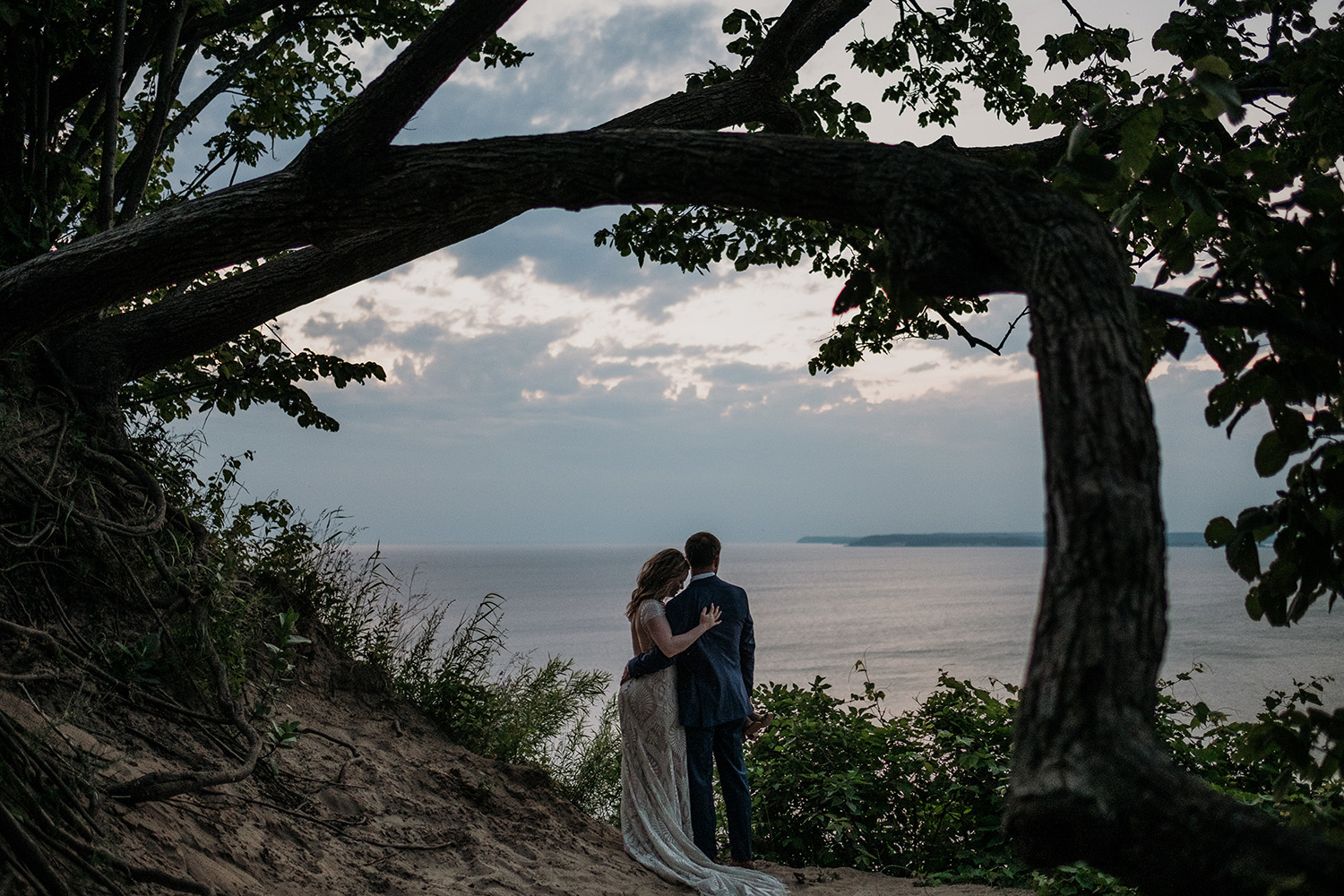 Northern Michigan Lake Wedding