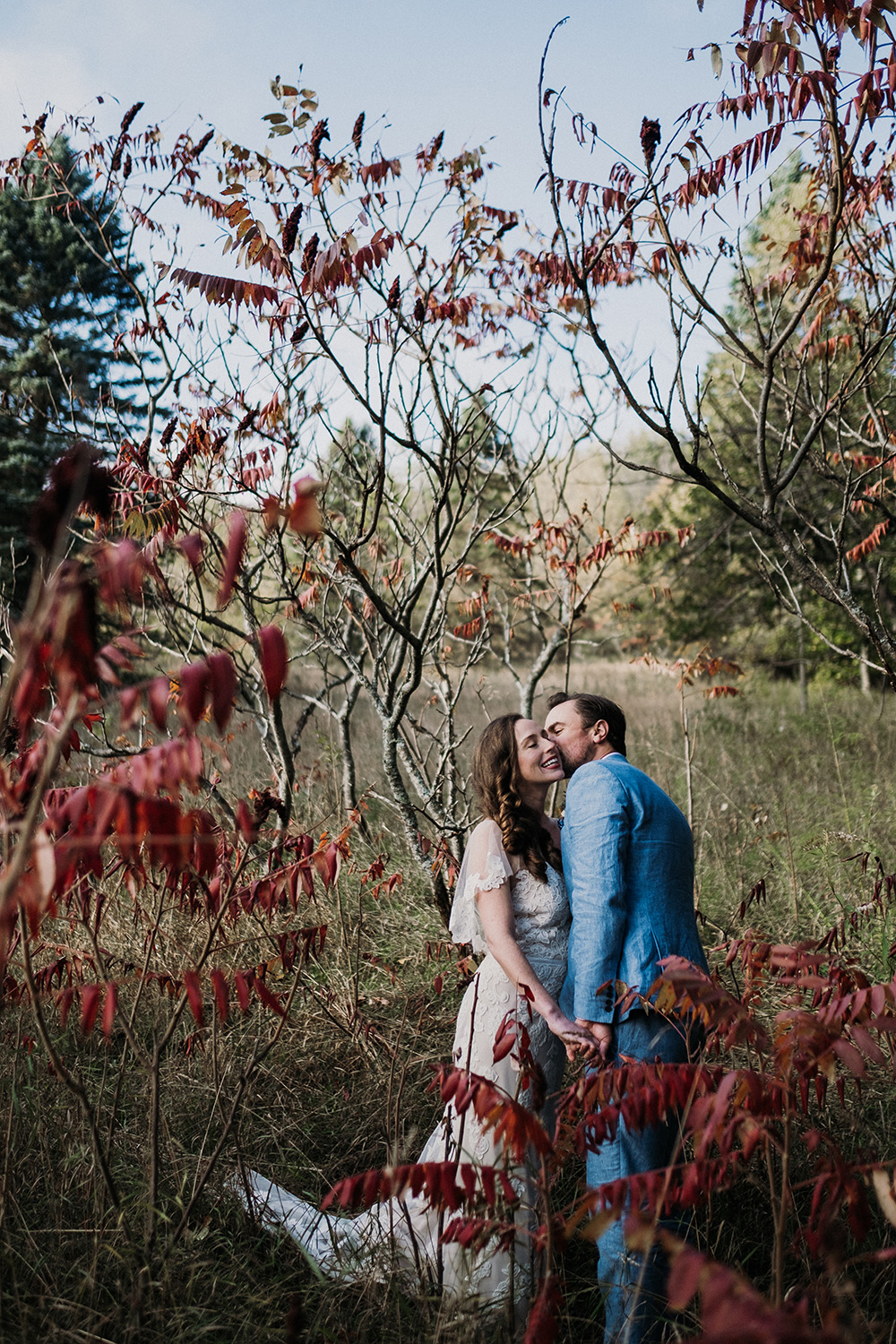 Sleeping Bear Dunes Fall Wedding