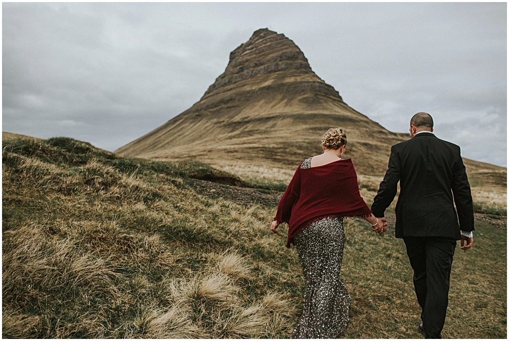 Kirkjufell Mountain Iceland Wedding Elopement