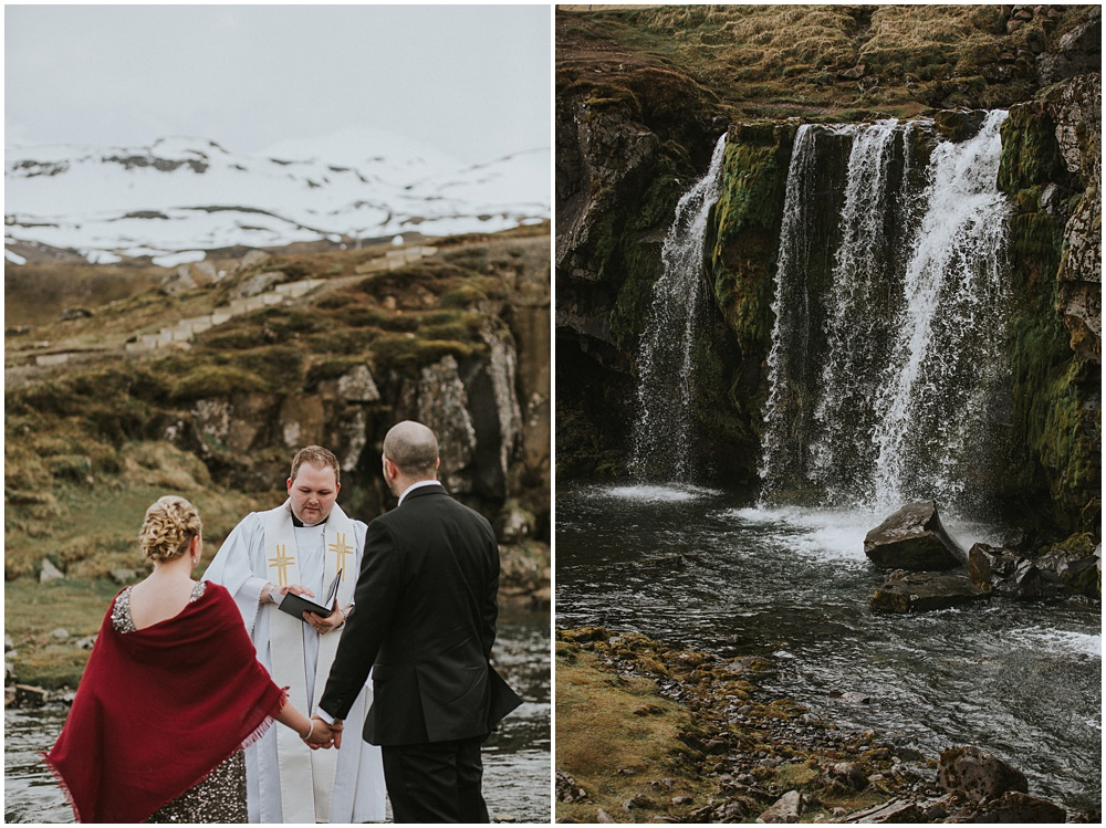Iceland Wedding at Kirkjufellfoss Waterfall