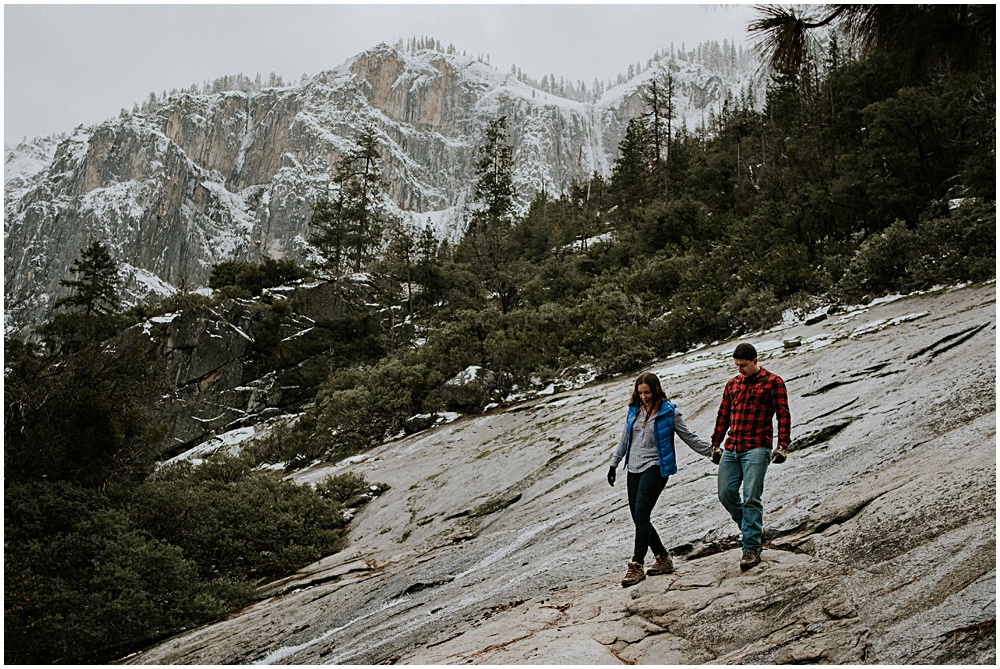 Yosemite Adventure Engagement Winter