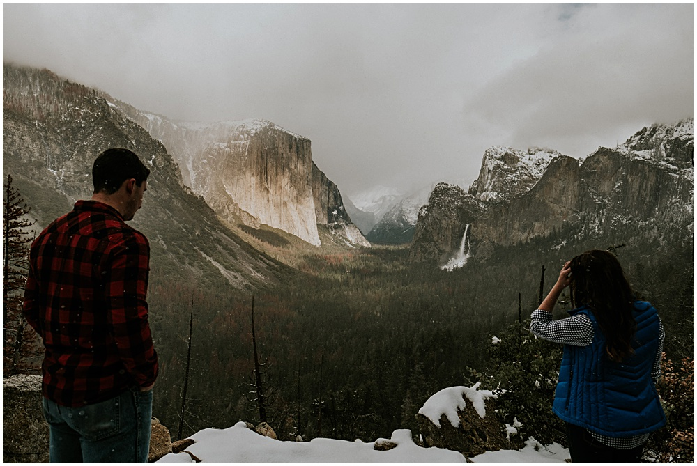 Yosemite Engagement Valley Snow