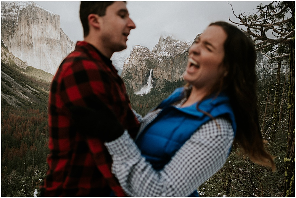 Yosemite Waterfall Engagement